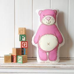 Pink Ted - printed softie
